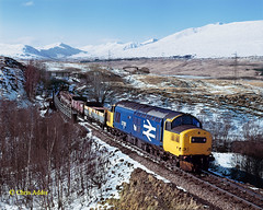 West Highland Memories (chrissyMD655) Tags: class 37 37191 west highland line large logo br infrastructure service scotland snow