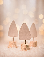Little paper trees (Ro Cafe) Tags: extensiontubes macromondays pentacon50mmf18 sonya7iii triangle winter bokeh closeup craft littlepapertrees macro paper vintagelens white textured softfocus pastelcolors