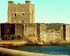 Carrickfergus castle from harbour (TomIestyn) Tags: carrickfergus countyantrim belfastlough caste sea walls historic ancient carrickferguscastle northernireland