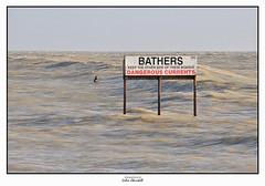 Dangerous Current (PIXTOART) Tags: littlehampton danger dangerous currents surfing waves sea rough