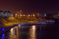 le bassin de la batellerie à Calais (pierre.pruvot2) Tags: calais harbour night nuit port panasonic sigma lumix eau water bateau yacht lumières lights hautsdefrance