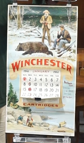 Winchester Repeating Arms calendar with mailing tube ($235.20)