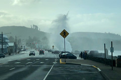 King tides on US 101 (OregonDOT) Tags: winter oregondot oregon us101 depoebay waves tide