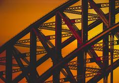 Harbour Bridge 2020 (Kevin Rheese) Tags: composite impression bushfire geometric steel haze smoke architecture wildfire sydney harbourbridge engineering girders