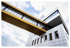 Colliding Neubauten (leo.roos) Tags: architecture architectuur bridge window glass glas facade gevel vlotlaan monster westland archit brug nl raam wijd nex nex6 sonye1628 sel16f28 darosa leoroos
