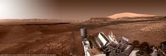 Late afternoon of sol 2595 (Thomas Appéré) Tags: mars curiosity rover robot technology exploration planet space espace desert hill butte colline montagne mountain colorization