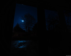 Moonlit puddle (aljones27) Tags: peterborough night bluehour nighttime sky stars moon star moonlit