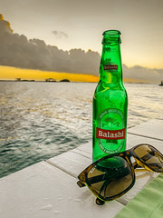 Balashi and Chill (Tom Hannigan) Tags: balashi beer sunglasses beach ocean green bottle chill relaxing relax