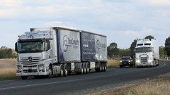 Olympic Mercedes (1 of 2) (Jungle Jack Movements (ferroequinologist) all righ) Tags: merc mercedes benz actros melbourne sydney hume highway olympic way yambla hp horsepower big rig haul freight cabover trucker drive transport carry delivery bulk lorry hgv wagon road nose semi trailer deliver cargo interstate articulated vehicle load freighter ship move motor engine power teamster truck tractor prime mover diesel injected driver cab cabin loud wheel exhaust double b ettamogah
