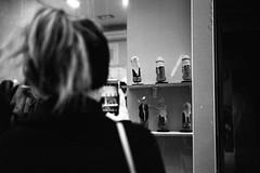 untitled.jpg (Lucio.Fulci) Tags: urbanlifea portrait europe candidportrait streetphoto people street grittystreetphotography streetportrait streetphotography fromthehip candid streetcandid film highcontrast kodaktx pushed leicam7 contrast leica monochrome summicron monotone madrid candidstreet straingers provoke city blackandwhite analog bw