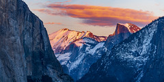 The Last Light (Amar Raavi) Tags: tunnelview yosemite nationalpark mountains elcapitan cloudsrest halfdome southwall winter snow framing trees green sunset colorful clouds iconic scenic expansive landscape outdoors travel california usa panorama