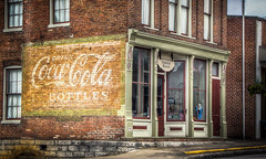 Drink Coca-Cola in Bottles-----at the Hart County Historical Museum (donnieking1811) Tags: kentucky munfordville hartcountyhistoricalmuseum cocacola coke signs architecture building brick exterior hdr canon 60d lightroom photomatixpro