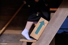 斜上 (atacamaki) Tags: xt2 50140 xf f28 rlmoiswr fujifilm jpeg撮って出し atacamaki 桃源郷芸術祭 japan ibaraki kitaibaraki kimono 着物 和装 people day life 足袋 階段 japanese