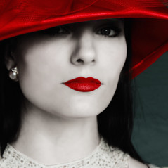 Well, Are You Gonna Kiss Me Or Not? (Rich Levine) Tags: red hat lips woman longing