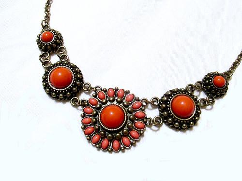 Orange Bib Necklace
