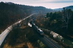 Dark ages of the MGA (benpsut) Tags: 9201 djimavic2pro drone flying mga manorbranch mavic mavic2pro ns ns9201 nsmanorbranch norfolksouthern sky aerial aerialphotography coal coalfields creek dronephotography railroad trains