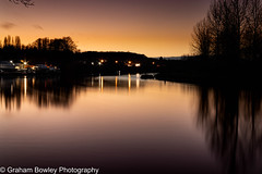 Afterglow (Graham Bowley) Tags: sunset evening riverthames berkshire winter landscape reading