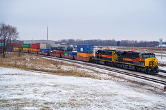 Iowa Interstate | Silvis, Illinois (R.J.V.) Tags: iowainterstate iais iowa illinois moline molineil bnsfrailway bnsf iaisrr railroad locomotive train freight