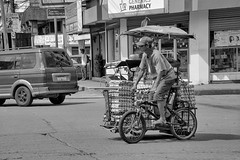 Egg Delivery (Beegee49) Tags: street people tricycle cycling blackandwhite monochrome sony a6000 bacolod city philippines asia