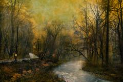 Lansdowne Stream4a4 (wood_photo) Tags: light mood timeofday photoshop textures composite layersbrushtool landscape twilight magichour