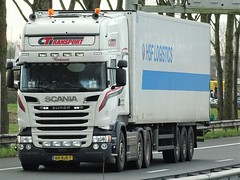 Scania R-series topline from CTransport Holland. (capelleaandenijssel) Tags: 80bjx7 truck trailer lorry camion lkw netherlands nl hsf cooler reefer