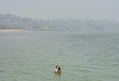 bush fire smoke (_barb_) Tags: australia melbourne frankston beach bushfire kiss