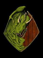 Dragon Knight (Josh Beck 77) Tags: dragon fantasy fantasycreature shield digitallycolored