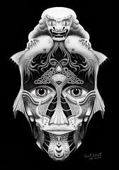 Foodog FishMask. #scottelliottart #fooddog #fish #drawing #contemporaryartist #contemporaryart #sketchbook (Scott Elliott Art) Tags: scottelliottart fooddog fish drawing contemporaryartist contemporaryart sketchbook