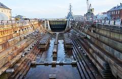 Graving dock, Boston (sailronin) Tags: drydock marine maritime gravingdock granite blocks water ships