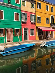 Burano reflections (ValterB) Tags: euro2017 2017 venice iphone valterb view venezia venedig water waterreflection reflection reflective house hot holiday colors colour color green red yellow blue window windows boat architecture abstract urban urbanphotography urbangeometry street streetphotography canal