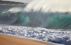 Wave power (thomasgorman1) Tags: wave water beach papohaku molokai nikon shore breaking curl mist spray shorebreaker sea sand travel nature scenic whitewater churning pacific hawaii