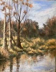 Plein Air, Winter Scene (sharivahidi) Tags: art pleinair impressionism landscape pastelpainting pastels