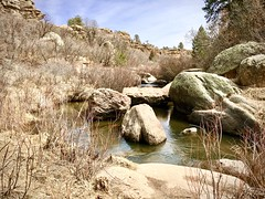 """There is no designer like Mother Nature."" (wjaachau) Tags: colorado landscape nature park canyon forest pathway rock boulder river lake scenic scenery springtime hiking trail adventure outdoor trees evergreen"