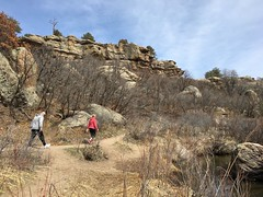 A good hike is a great way to clear your mind, connect with nature and get in some exercise, especially when the weather is nice. (wjaachau) Tags: colorado park adventure workout walking hiking pathway forest rock boulder canyon nature landscape scenic scenery trail trees evergreen