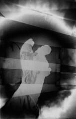 radiance (BleakView) Tags: blackandwhite abstract edit darkroom angel grave graveyard heaven hell fantasy clouds fog blur grain film filmgrain radiance light god goth gothic