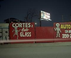 Cortes2 (ADMurr) Tags: la eastside auto glass billboard toyota cortes mamiya 7 80mm 6x7 film kodak ektar dba4971