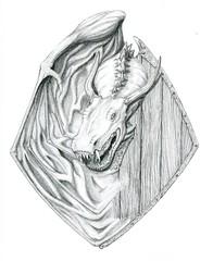 Dragon Knight Drawing (Josh Beck 77) Tags: drawing sketch pencil traditionalart dragon fantasy fantasycreature shield