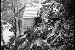 Rastoke (Koprek) Tags: fomapan 100 film analog landscape waterfall rastoke croatia october 2019 fuji 6x9 fujigw690ii monochrome