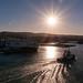 Arriving at the port of Civitavecchia at Sunrise
