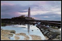 IMG_0005 St Marys Lighthouse (Scotchjohnnie) Tags: stmaryslighthouse lighthouse whitleybay tynewear northeastengland northsea shoreline sea seascapes landscape landmark coastline canon canoneos canon6d canonef24105mmf4lisusm scotchjohnnie reflection sky clouds