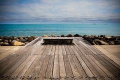 View of a Seat with a View (AshfromNZ) Tags: newplymouth taranakiregion newzealand coastalwalkway ocean sea blue seat canon 5dmarkiv