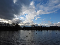 clouds over the lake (Johnson Cameraface) Tags: 2019 december autumn olympus omde1 em1 micro43 mzuiko 1240mm f28 johnsoncameraface doncasterlakeside southyorkshire clouds doncaster