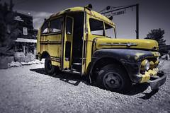 Little School bus in Past in Nelson Ghost Town - Nevada - USA (R.Smrekar) Tags: usa 2019 car nikon nevada blackwhitecolor z7 smrekar 000500