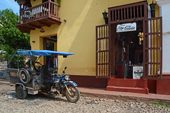 Drink Piña Colada (emerge13) Tags: architecture colonialarchitecture cuba trinidadsanctispirituscuba architecturaldetails colorfulbuildings cobblestonestreets trinidad street streets trinidadcuba colorfulcities motorbikes motorcycles bars coffeebars