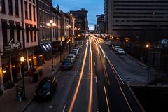 Lights on Main (Explored Jan 14, '20) (sniggie) Tags: fayettecounty downtown traffic dusk lexington kentucky carlights cars headlights lighttrails