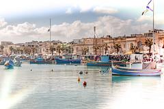 Hafenansicht - Marsaxloxx (samba_oleg (no weapons in private hands)) Tags: malta marsaxlokk orte hafen boote meer schiffe
