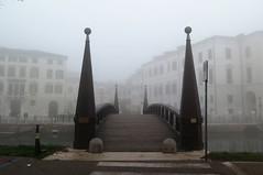 Foggy weather in Treviso - The University bridge (Sokleine) Tags: fog foggy brouillard pont ponte bridge silhouette heritage patrimoine treviso veneto vénétie italia italie italy italien eu r europe