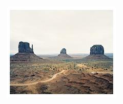 (iconicturn) Tags: arizona monumentvalley unitedstates usa north america landscape desert rocks navaro expiredfilm analog analogue mediumformat film mamiya7 mamiya 120 6x7 nature