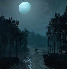 ''Orb Of Night'' (HodgeDogs) Tags: redengine skybox larahjohnson photography night orb moon horse explore inexplore nvidia pc games gaming cdprojectred cdpr thewitcher3