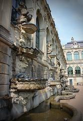 Zwinger in Dresden (annelies_visser) Tags: dresden sachsicherschweiz history germany duitsland fontein standbeeld